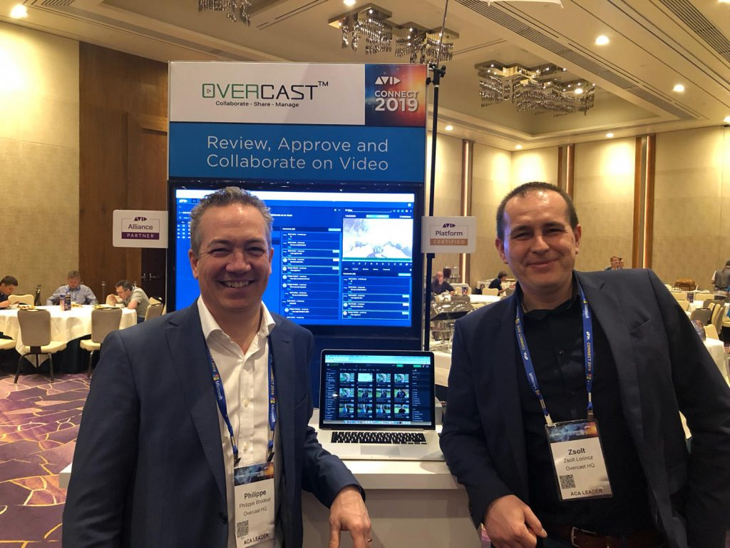 Overcast HQ CEO Philippe Brodeur and CTO Zsolt Lorincz at Avid Connect 2019 in Las Vegas