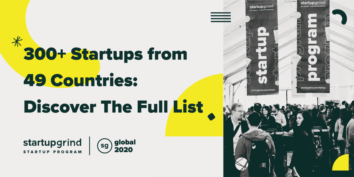 300 startups at StartUP Grind Global 2020